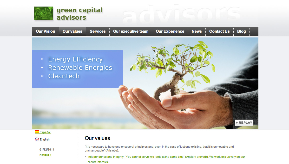 diseño web greencapital