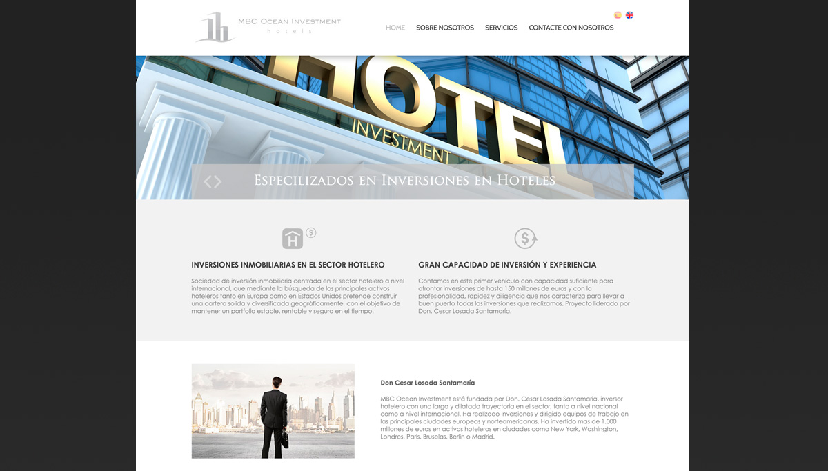 diseño web MBC Ocean Investment